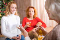 Family having tea time Stock Images