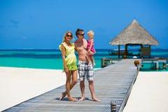 Family having tropical vacation Stock Photos