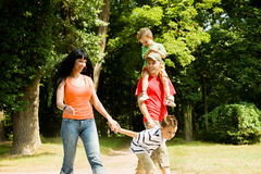 Family having a walk Stock Image