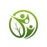 Family Healing Leaf Icon stock illustration