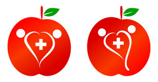 Family health care. Concept with apple logo Stock Photo