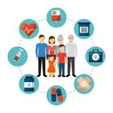 Family health care design Stock Images