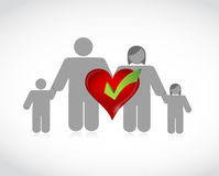 Family health coverage concept illustration Stock Photography