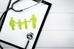 family health and life insurance concept Stock Photo