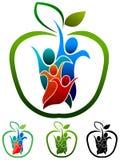 Family health logo. Illustrated family health logo on white background Royalty Free Stock Photos