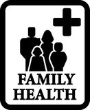 Family health sign Royalty Free Stock Image