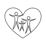 Family healthy heart isolated icon design Stock Image