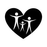 Family healthy heart isolated icon design Stock Photography
