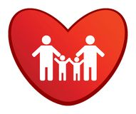 Family heart Royalty Free Stock Images