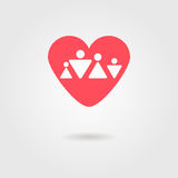 Family heart icon Royalty Free Stock Images