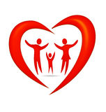 Family heart logo Royalty Free Stock Photos