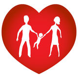 Family Heart Stock Image