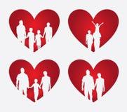 Family heart Royalty Free Stock Image