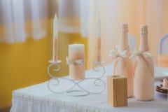 The family hearth. Wedding decor Royalty Free Stock Photography