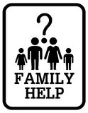 Family help symbol Royalty Free Stock Images