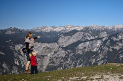 Family hike royalty free stock photography