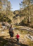 Family hike stock photography