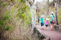 Family on a hike Royalty Free Stock Photography