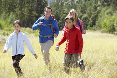 Family On Hike In Beautiful Countryside Stock Photography