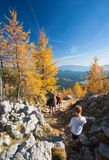 Family hike royalty free stock images