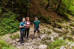 Family of hikers Stock Photos