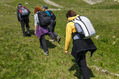 Family of hikers Royalty Free Stock Photography