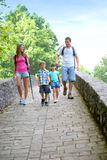Family hiking with kids Royalty Free Stock Photos