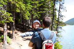 Family hiking Stock Photography