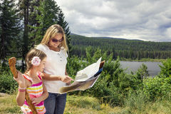 Family Hiking in the Mountains Royalty Free Stock Photo