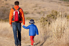 Family hiking Royalty Free Stock Images