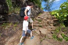 Family hiking Stock Image