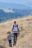 Family hiking Stock Image