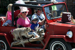 Family of hillbillies during Hillbilly Days parade Royalty Free Stock Image