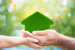Eco-friendly house stock photo