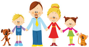 Family holding hands Stock Photos