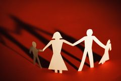 Family holding hands Stock Image