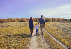 Family holding hands Royalty Free Stock Photo