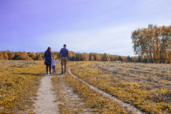 Family holding hands Royalty Free Stock Image