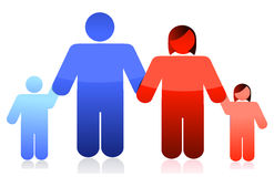 Family holding hands illustration design Royalty Free Stock Photo