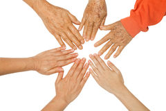 Family holding hands together,concept The bond between family Stock Photography