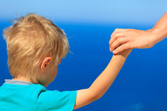 Family holding hands on vacation Stock Photography