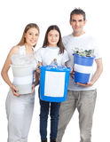 Family Holding Recycle Bin Royalty Free Stock Photo