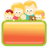 Family holding sign - Blond Royalty Free Stock Images