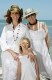 Family Holiday. A family of two women and a little girl on vacation Royalty Free Stock Image