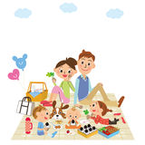 Family is a holiday making stock illustration