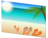 Family holiday postcard Stock Images