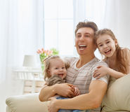 Family holiday and togetherness. Stock Photo