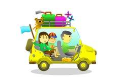 Family holiday tour Stock Photo
