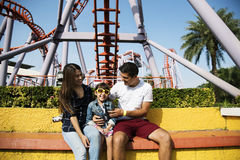 Family Holiday Vacation Amusement Park Togetherness Stock Photos