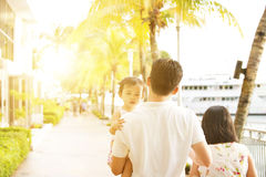 Family in holiday vacations Royalty Free Stock Photography